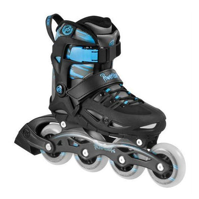 blue kids adjustable inline skates