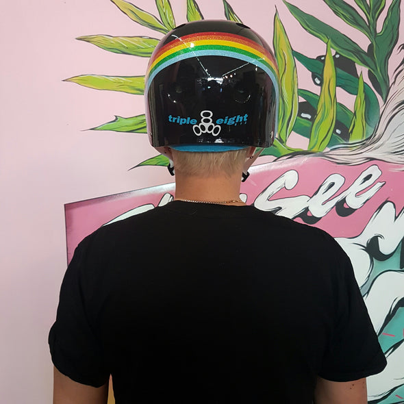 RAINBOW SWEATSAVER BLACK HELMET