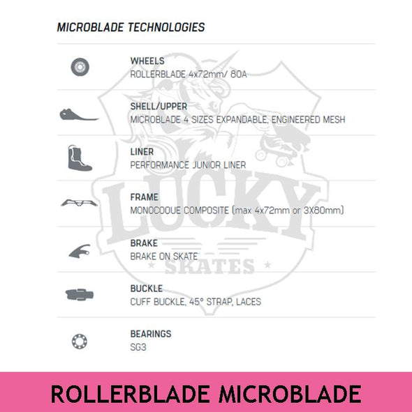 rollerblade microblade specifications