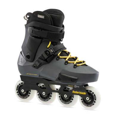 Rollerblade Twister Edge 80 Anthracite Yellow Inlines