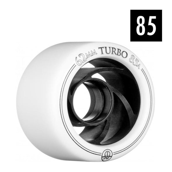 Bones Turbo White/Black 85A - 4 pack