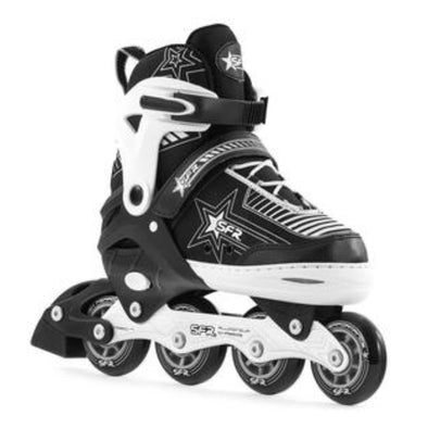 black adjustable kids rollerblades