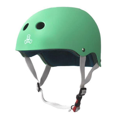 mint green helmet