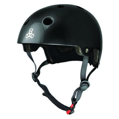 black skate bike helmet