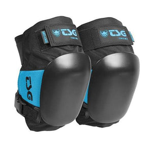 blue roller derby knee pads