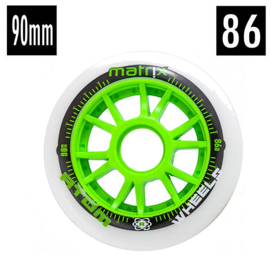 Atom Matrix Green Inline Wheel 86A 90mm