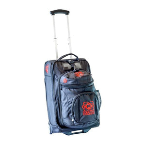 red skate trolley bag