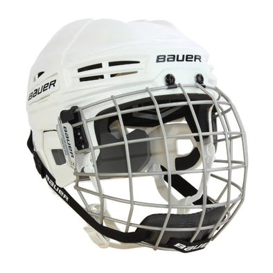 Bauer IMS 5.0 White Helmet Cage Combo