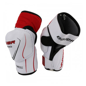 white elbow pads