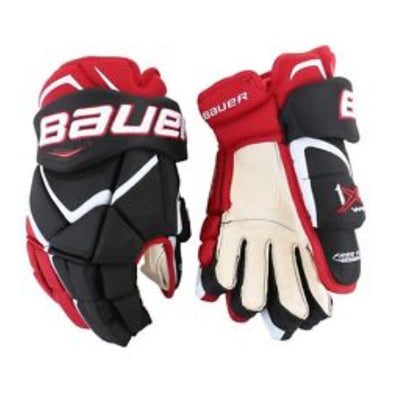 Bauer Vapor X800 Lite Black Red Gloves Senior *Last Pair* Size 15""
