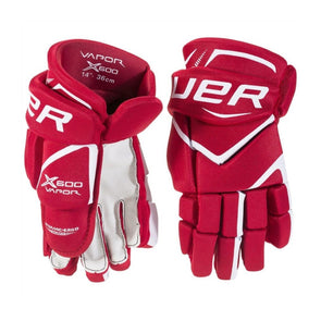 Bauer Vapor X600 Red Gloves Senior *Last Pair*