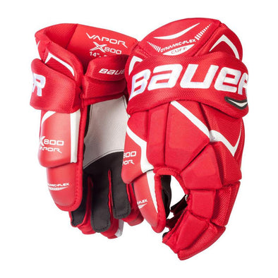 Bauer Vapor X800 Lite Red Gloves Senior