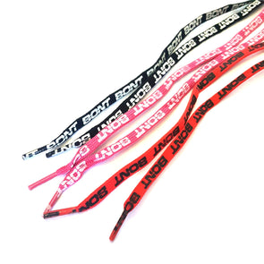 red pink black bont laces