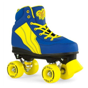 blue yellow skates