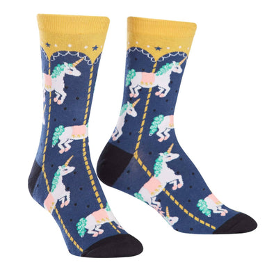 Carousel Unicorn Womens Crew Socks