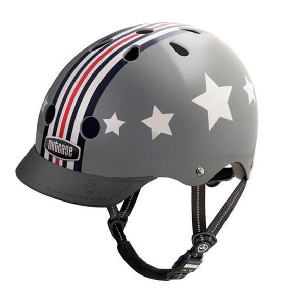stars stripes grey helmet nutcase