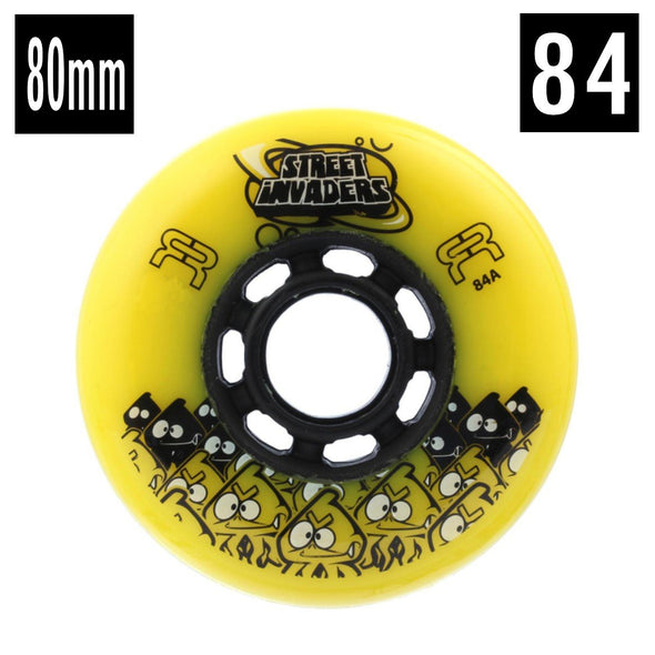 YELLOW OUTDOOR 84A 80MM INLINE WHEELS