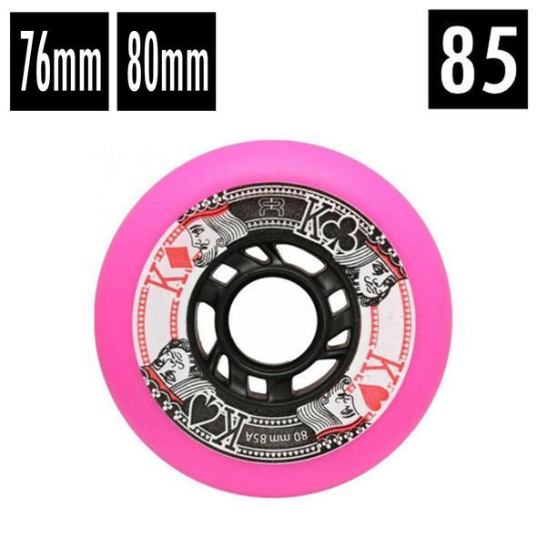 pink 76mm and 80mm 85a inline wheels