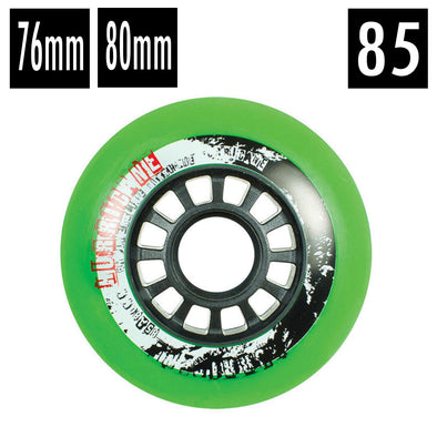 green outdoor inline wheels green