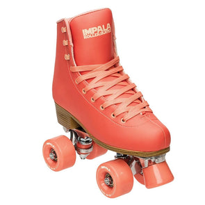 peach apricot rollerskates
