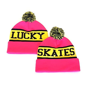 Lucky Skates Beanie Pink/Yellow *Last One*