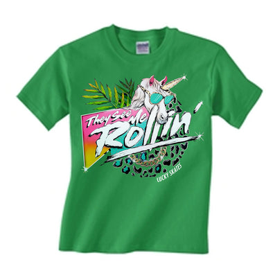 They See Me Rollin Youth T-shirt Green