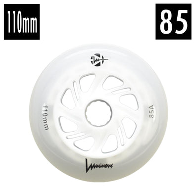 FR White LED Luminous Inline Wheel 85A 110mm