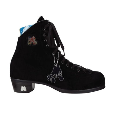 black artistic suede skate boot