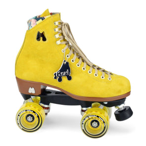yellow pineapple roller skates