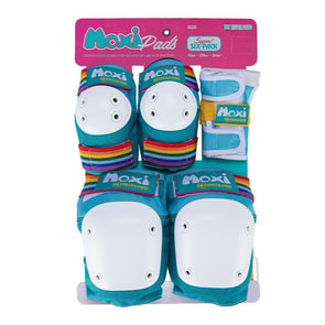 RAINBOW TEAL MOXI KNEE ELBOW WRIST GUARDS