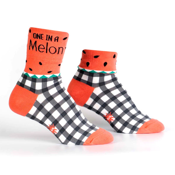 One In A Melon Womens Crew Socks