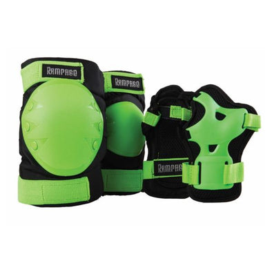 rampage padding set green