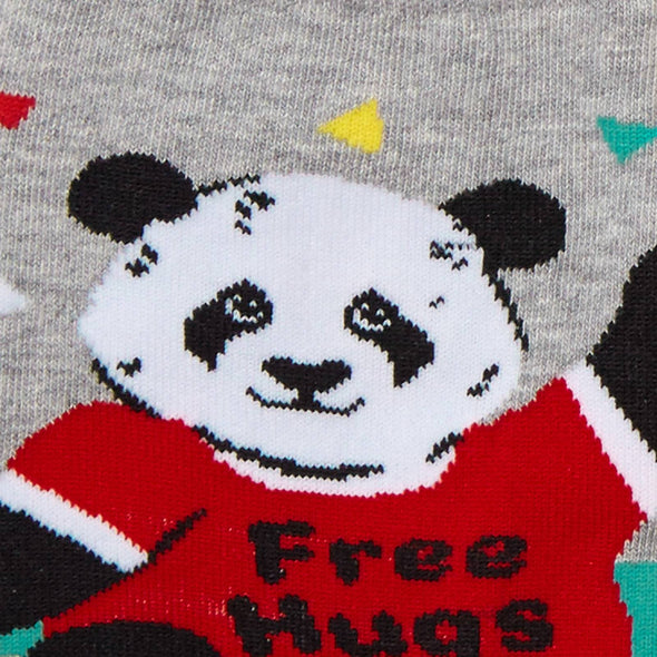 panda free hugs on socks