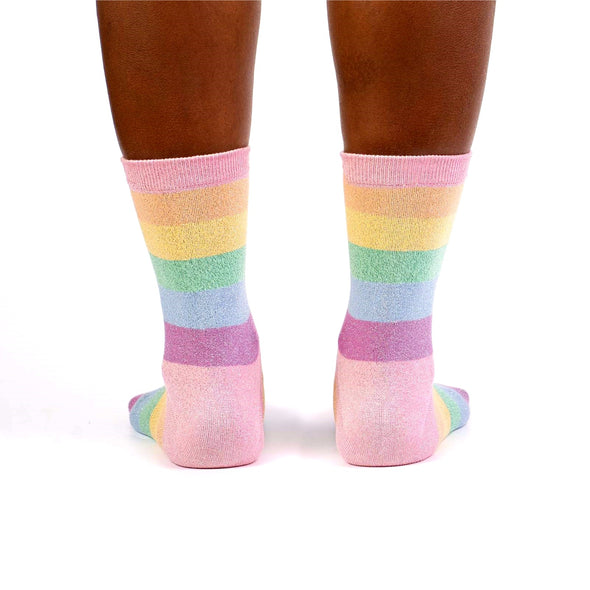 Pastel Prismatic Womens Crew Socks