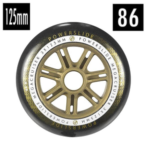 black and gold tri skate 125mm wheel