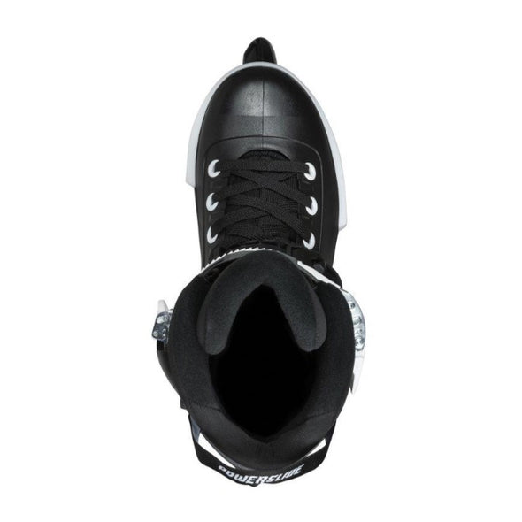 black urban powerslide rollerblades