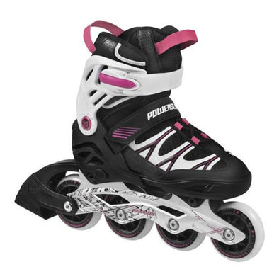 pink kids adjustable inline skates powerslide