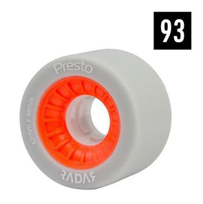 radar presto orange wheels