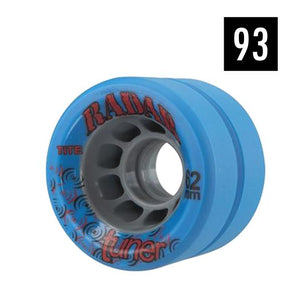 wide blue indoor skate wheel