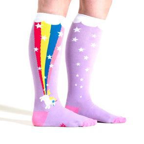 unicorn farting a rainbow socks