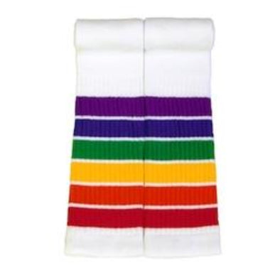 rainbow striped long socks