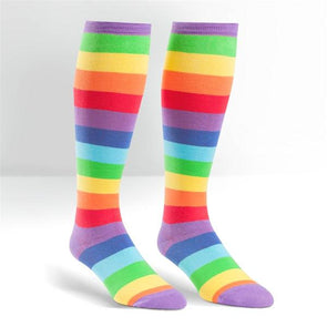rainbow long socks