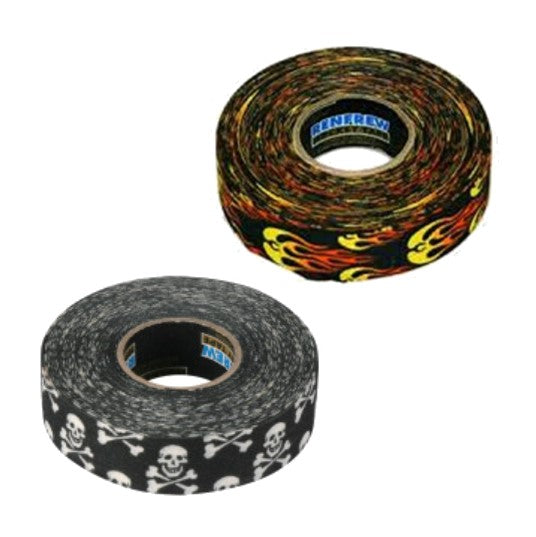 skull tape and flame tape
