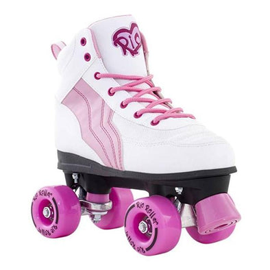 kids junior pink rollerskates