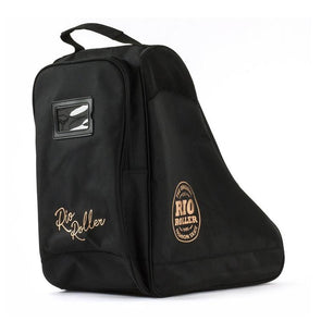 BLACK AND GOLD TRIANGLE SKATE BAG