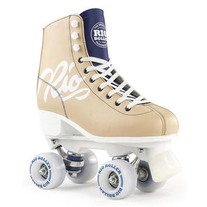 hightop tan blue skates