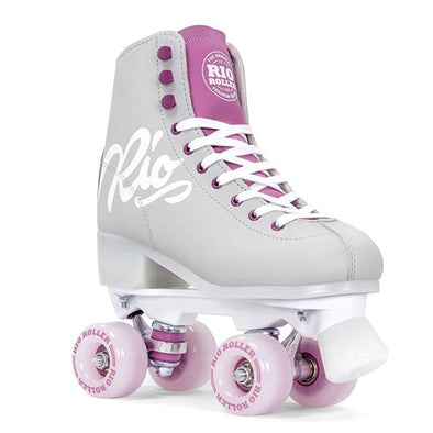 purple grey roller skates