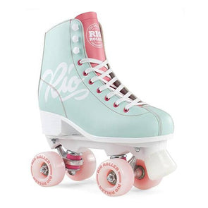 Teal and Coral RollerSkates