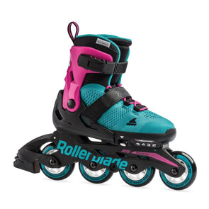 teal pink rollerblades adjustable kids