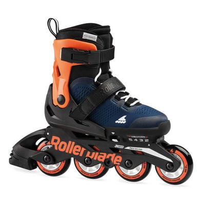 blue orange kids adjustable rollerblades